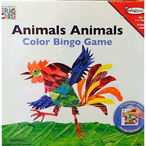 Colorforms Animaux Animaux Jeu de bingo en couleur