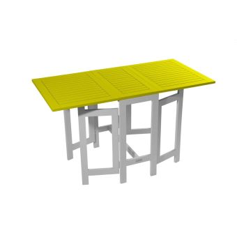 Table console de jardin pliante BURANO CITY GREEN Vert anis ...