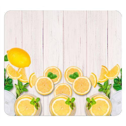 Wenko - Protège-plaque vitrocéramique Citrons - L. 50 x l. 56 cm - Jaune - Citrons - Jaune