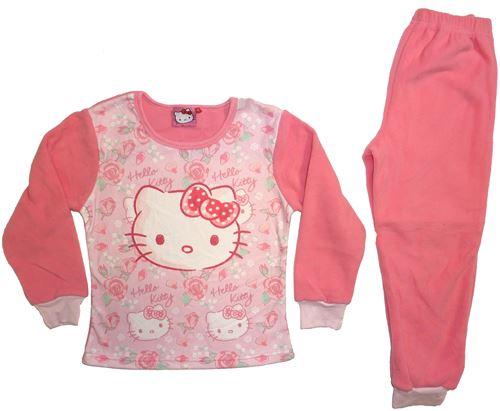 Hello Kitty pyjama polaire fille rose foncé