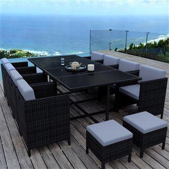 Table 12 Places. Perfect Salon De Jardin En Teck Huil Grande Taille ...