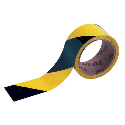 Rouleau adhésif pour SOL 50 mm x 16,5 m noir / jaune