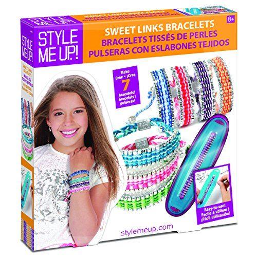 Style Me Up - Kit de fabrication de bracelets d'amitié avec perles et fils de liaison, fabriquez jusqu'à 7 bracelets, Set de bricolage pour fille - SMU-869