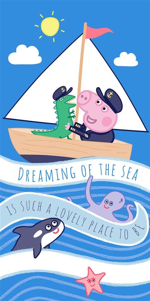 Peppa Pig Serviette de plage pour enfants Motif personnage Taille unique