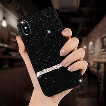 coque iphone xr strass noir