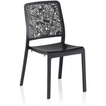 Kettler - Chaise en résine plan de Paris Graphite - Mobilier ...
