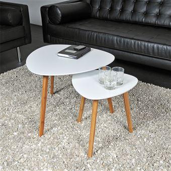 Tables Blanc De Gigognes Lot Onyx 2 Basses lcFTK1J