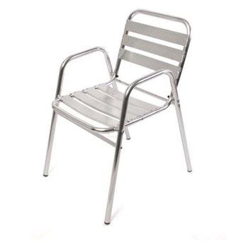 Chaise Bistrot De Jardin En Aluminium 65x53x82cm Mdj04079