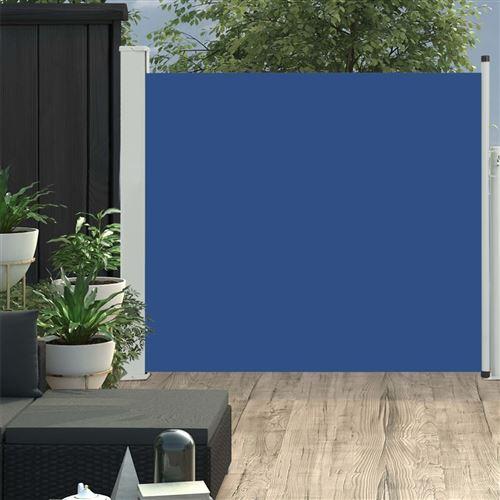 Auvent latéral rétractable de patio 100x300 cm Bleu