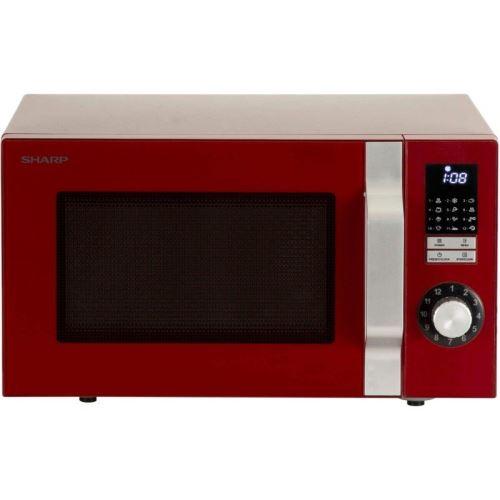 Sharp R-344R - Four micro-ondes monofonction - pose libre - 25 litres - 900 Watt - rouge