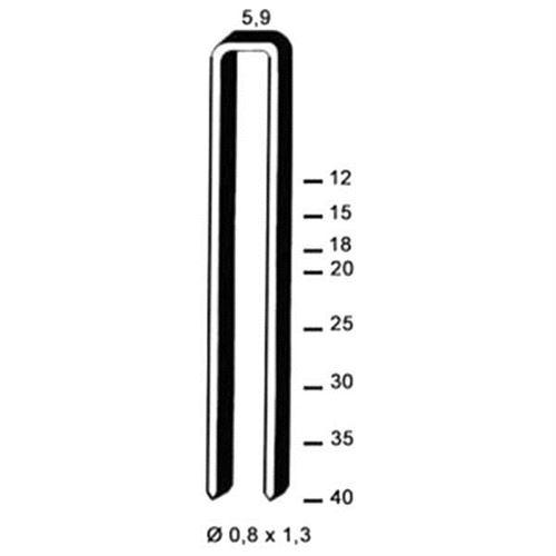 Agrafes galvanisées SX20 BOSTITCH - L.20 mm - Boite de 800 - SX20