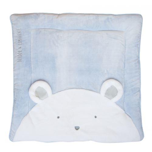 Tapis de chambre tapidou ours bleu - doudou et compagnie