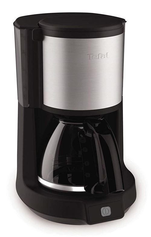 Tefal cm 3708 autonome entièrement automatique Cafetière (autonome, Machine à vide, 1,25 l, de café moulu, 1000 W, noir, acier inoxydable)