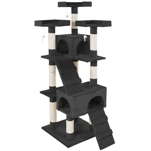TecTake Arbre à chat BARNEY 170 cm - noir