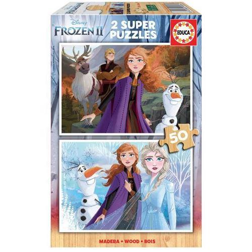 EDUCA - puzzle 2x50 la reine des neiges 2