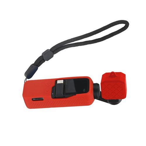 Silicon Housse Etui Ventiler Avec Poignet Longe Pour Pocket Dji Osmo MK4025