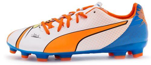 Puma evopower 4.2 pop ag j gs <strong>chaussures</strong> de footballin jaune bleu 103653 01