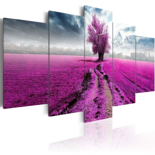 Tableau - Purple Land .Taille : 100x50
