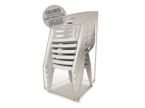 Housse de protection pour chaises empilables 66 x 66 x 110/80 cm