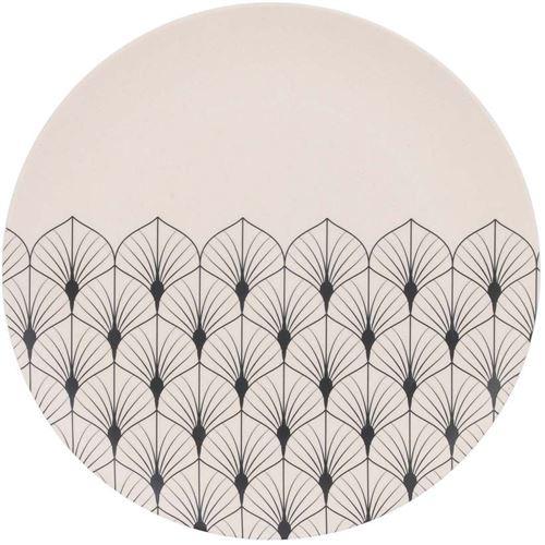 The Home Deco Factory - Assiette en fibre de bambou Eco concept 25 cm Feuilles