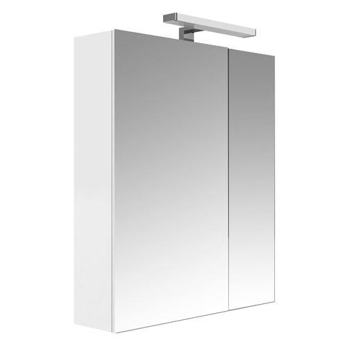 Armoire de toilette éclairante 2 portes JUNO - L. 60 x H. 75 cm - Blanc