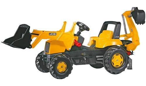Rolly Toys Tracteur à pédales RollyJunior jaune JCB