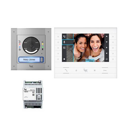 Kit portier vidéo mtm 1 module + luxo avec alimentation - 8k40cf-005 - came