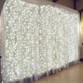 3Mx3M Rideau Lumineux BLANC 300 LED Décoration de Noël / Fête ...