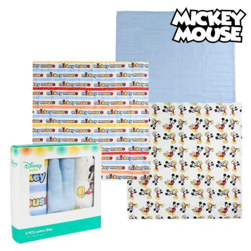 Serviette de bain en mousseline Mickey Mouse 75378 Bleu (Pack de 3)