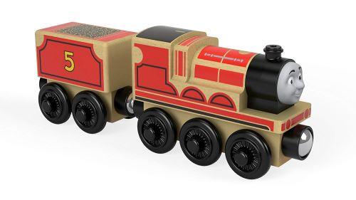 Thomas et ses amis locomotive en bois James, jouet pour enfant 2 ans et plus, FHM40