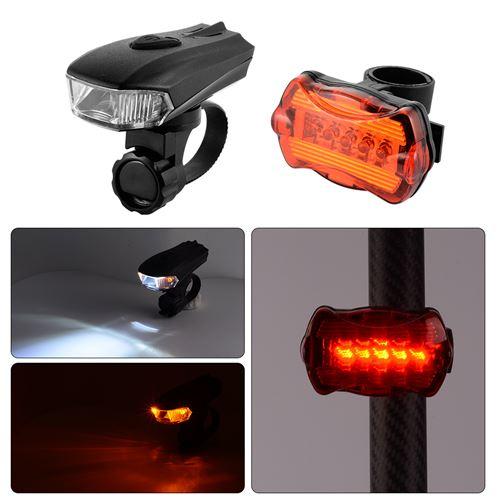 Smart Avant Et Arrière 3 DEL Vélo Cyclisme Bright Light Set phare feu arrière blanc