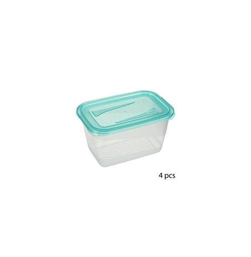 Lot de 4 boîtes de conservation - 0.75 L - Bleu