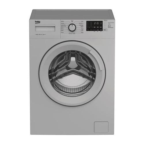 Beko WM1015CHS - Machine à laver - indépendant - largeur : 60 cm - profondeur : 64 cm - hauteur : 84 cm - chargement frontal - 64 litres - 10 kg - 1200 tours/min - argent