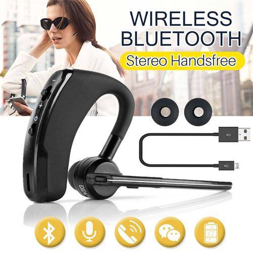 Oreillette Bluetooth pour GOOGLE Pixel 3 Smartphone Intra auriculaire Sans Fil Son Main Libre Universel Business (NOIR)