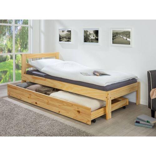Tiroir de lit Lati à roulettes - 200 x 90 cm - Beige