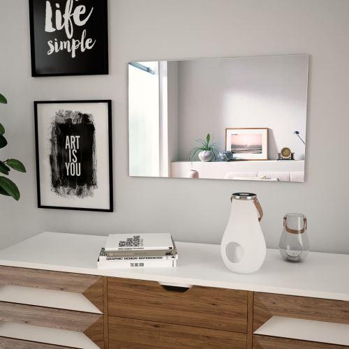 Miroir Mural Miroirs en verre Miroir Décoration pour Salon miroir Salle de Bains Rectangulaire 60 x 40 cm