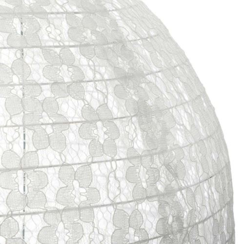 Atmosphera Lanterne Japonaise Dentelle Coton D 40 cm