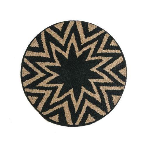 deko & co décor vannerie sauvage a - ø38 cm - beige et noir