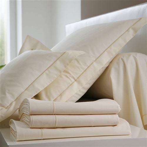 Taie d'oreiller Coton BLANC DES VOSGES - Coquille - 65 x 65 cm