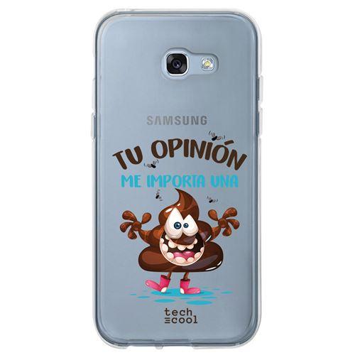 coque pour Samsung Galaxy A5 2017 TPU Silicone Caca phrase drôle transparent