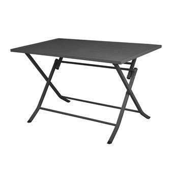 Table de jardin pliante rectangulaire en aluminium L120cm LODGE gris ...