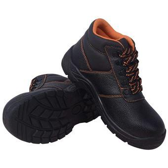 Vidaxl Protection Jardin Chaussures Sécurité De Bricolage Cuir Vêtement Noir Travail dxthsrCQ