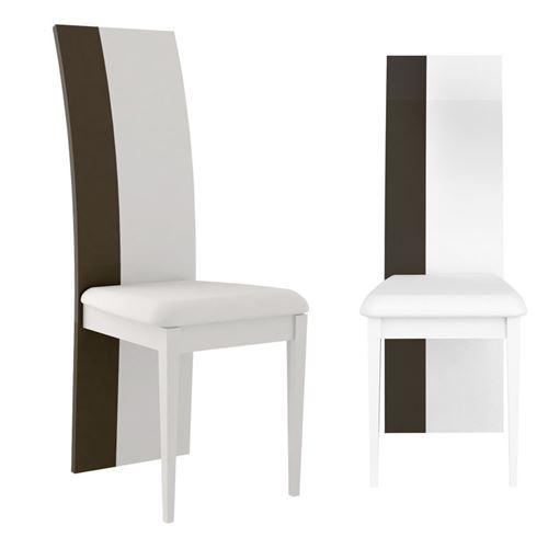 Duo de Chaises Gris/Blanc brillant - WATOM