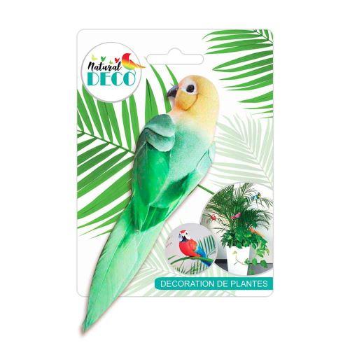 Déco Plantes – Medium Oiseau Vert CD3827