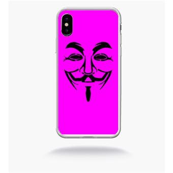 coque anonymous iphone x