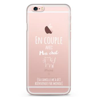 coque iphone 6 chat blanc