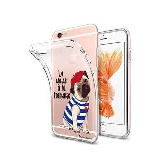 Coque iPhone 6 iPhone 6S souple transparente Chien Mariniere Motif Ecriture Tendance La Coque Francaise