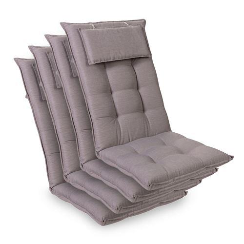 Coussin de chaise de jardin -Blumfeldt Sylt -120 x 50 x9 cm -4 pièces - Gris platine