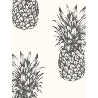 Ananas Tropiques Papier Peint Noir Et Blanc Decors Et Stickers