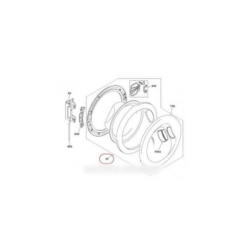 Hublot complet pour lave linge hoover - 41003610